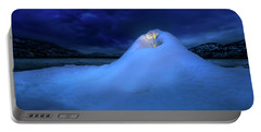 Portable Battery Charger featuring the photograph Ice Volcano by John Poon