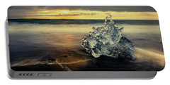 Portable Battery Charger featuring the photograph Iceberg At Dawn by Rikk Flohr