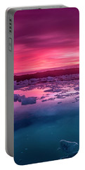 Iceberg In Jokulsarlon Glacial Lagoon Portable Battery Charger by Joe Belanger