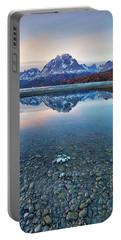Portable Battery Charger featuring the photograph Icebergs And Mountains Of Torres Del Paine National Park by Phyllis Peterson