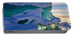 Iceberg's Glow - Mendenhall Glacier Portable Battery Charger by Cathy Mahnke