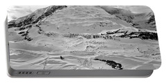 Icefields Center Peaks Black And White Portable Battery Charger