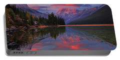 Icefields Parkway Autumn Morning Portable Battery Charger