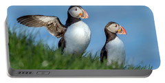 Iceland A World Of Puffins Portable Battery Charger