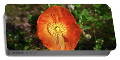 Iceland Poppy Portable Battery Charger by Sally Weigand