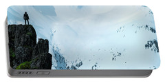 Iceland Snow Covered Mountains Portable Battery Charger