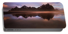 Iceland Sunset Reflections Portable Battery Charger