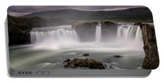 Iceland Waterfall Portable Battery Charger