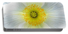 Iceland White Poppy Portable Battery Charger