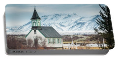 Icelandic Church, Thingvellir Portable Battery Charger