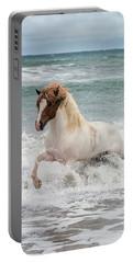 Icelandic Horse In The Sea, Longufjorur Portable Battery Charger