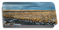 Portable Battery Charger featuring the photograph Icelandic Landscape by Dubi Roman