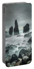 Icelandic Storm Beach And Sea Stacks. Portable Battery Charger