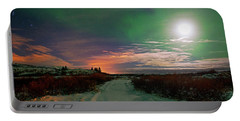 Portable Battery Charger featuring the photograph Iceland's Landscape At Night by Dubi Roman
