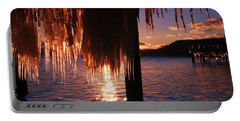 Portable Battery Charger featuring the photograph Icicle Stars Sunset by Sean Sarsfield