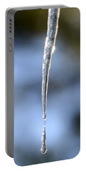 Icicles In Bloom Portable Battery Charger