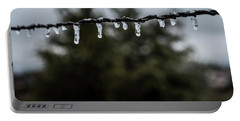 Icicles On Wire Portable Battery Charger by Karen Slagle