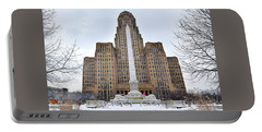 Portable Battery Charger featuring the photograph Iconic Buffalo City Hall In Winter by Nicole Lloyd