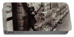 Iconic Movie Moments - Harold Lloyd Portable Battery Charger