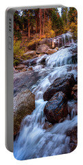 Portable Battery Charger featuring the photograph Icy Cascade Waterfalls by John Hight