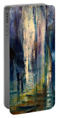 Icy Cavern Abstract Portable Battery Charger
