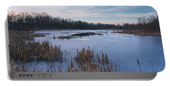 Icy Glazed Wetlands Portable Battery Charger