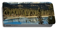 Icy Jasper Mountain Reflections Portable Battery Charger