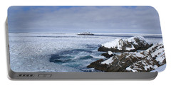 Icy Ocean Slush Portable Battery Charger by Annlynn Ward