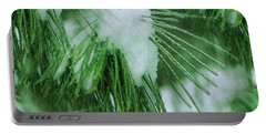 Icy Pine Needles Portable Battery Charger