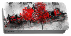 Icy Red Landscape Portable Battery Charger