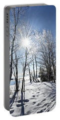Icy Sunburst Portable Battery Charger
