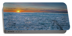 Icy Sunset Portable Battery Charger