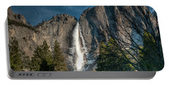 Icy Upper Yosemite Falls Portable Battery Charger