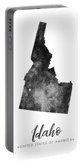 Idaho State Map Art - Grunge Silhouette Portable Battery Charger