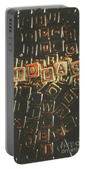 Ideas Letterpress Typography Portable Battery Charger