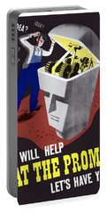 Portable Battery Charger featuring the digital art Ideas Will Help Beat The Promise by War Is Hell Store
