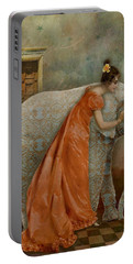 Portable Battery Charger featuring the digital art If Elephants Were Painted by Lisa Noneman