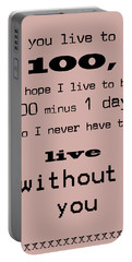 If You Live To Be 100 Portable Battery Charger