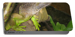 Iguana - A Special Garden Guest Portable Battery Charger by Christiane Schulze Art And Photography