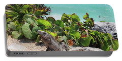 Iguana At Tulum Portable Battery Charger by Roupen  Baker