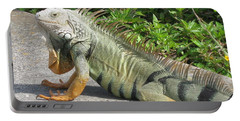 Iguania Sunbathing Portable Battery Charger by Christiane Schulze Art And Photography