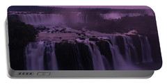 Iguazu Sunset In Violet Portable Battery Charger