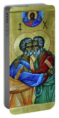Portable Battery Charger featuring the photograph Ikon Sts. Peter And Andrew by John Schneider