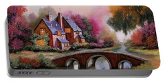 Il Ponticello A Colori Portable Battery Charger by Guido Borelli