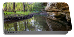 Illinois Canyon In Spring Portable Battery Charger by Paula Guttilla