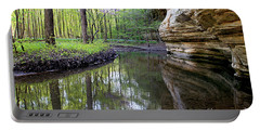 Illinois Canyon In Spring Starved Rock State Park Portable Battery Charger