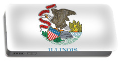 Illinois State Flag Portable Battery Charger by American School