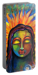 Illuminated By Her Own Radiant Self Portable Battery Charger by Prerna Poojara