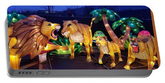 Illuminated Lion Family Portable Battery Charger