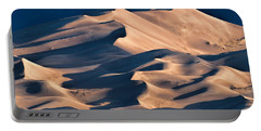Illuminated Sand Dunes Portable Battery Charger by Alana Thrower